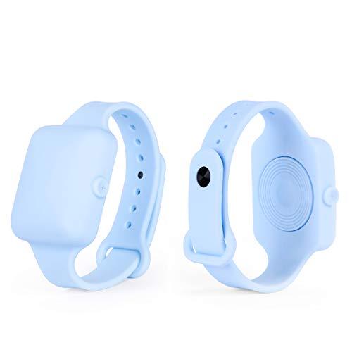 Ubris4Care Bracciale Ricaricabile, Porta Gel per Ragazzi ed Adulti (Azzurro pastello)
