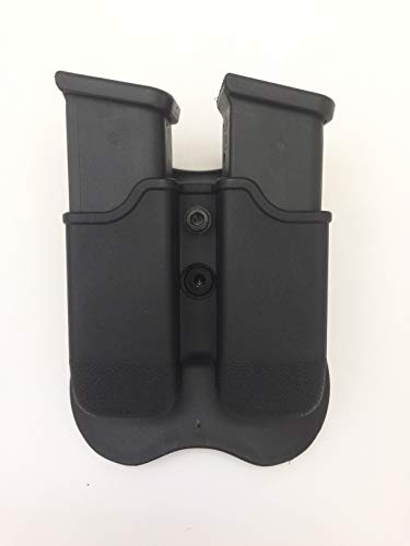 Best Price Glock Double Magazine Holder Paddle Pouch fit (17,19,22,23,26,27,31,32,33,34,35,37,38,39,...