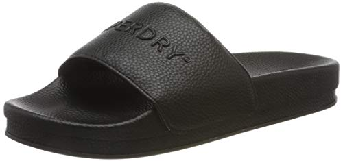 Superdry Damen Arizona HIGH Build Flatform Slide Badeschuhe, Schwarz (Black 02a), 38/39 EU