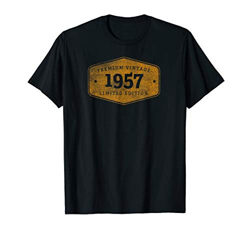 Born 1957 Vintage Limited Ed Birthday Gift graphic T-Shirt