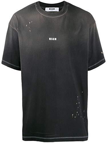 MSGM Luxury Fashion Herren 2740MM62L19579799 Schwarz Baumwolle T-Shirt   Herbst Winter 19