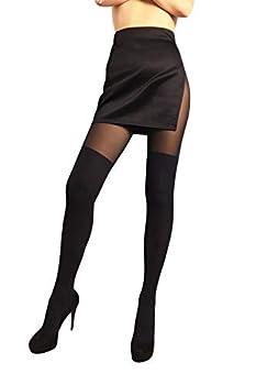 faux thigh high tights