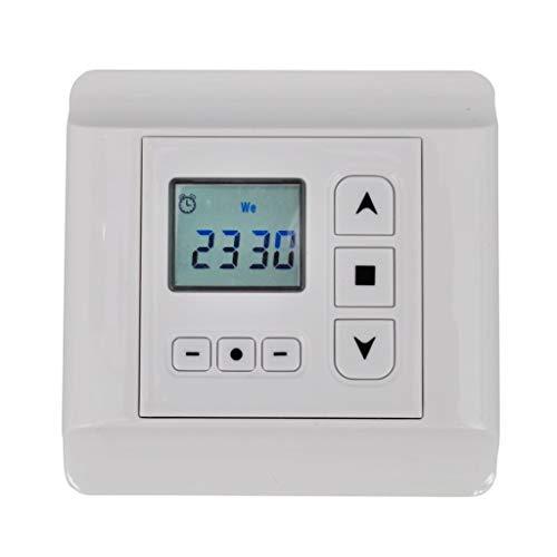 UnfadeMemory Controlador de Motor Rotativo para Persianas Toldos y Persianas de Ventana,con Reloj Programable,230 V / 50 Hz,80x80x45mm