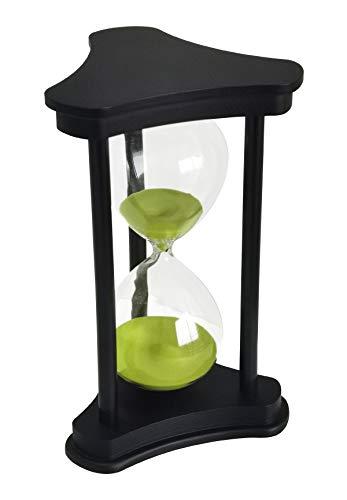 Lodunsyr Sabbia Timer Orologio Ornamento per La Casa Clessidra 60 Minuti Scrivania Decorazione per Soggiorno Tavolino da caffè Gioco di Scuola 60 Minuti Clessidra Hourglass Timer Clessidra Verde