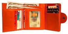 Big Skinny Women's Trixie Tri-Fold Slim Wallet, Holds Up to 30 Cards, Tigerlilly Orange