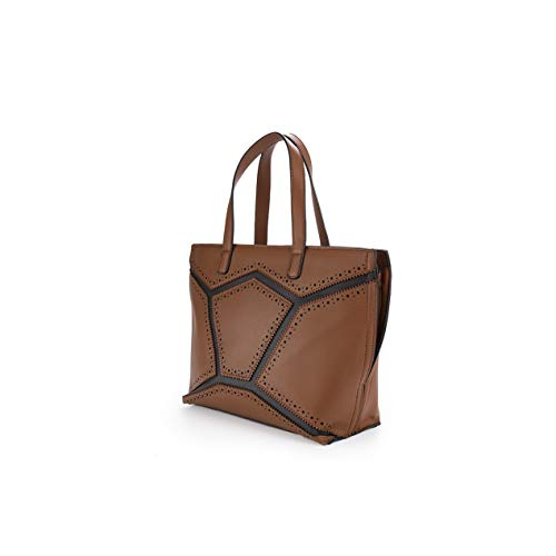 PACO MARTINEZ | Bolso Tote Mujer Patchwork |20x25x7 | Camel