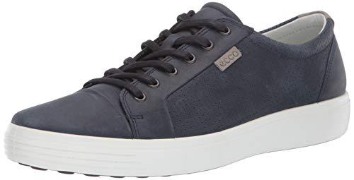 ECCO Men's Soft 7 City Sneaker, Marine Oil Nubuck, 47 M EU (13-13.5 US)