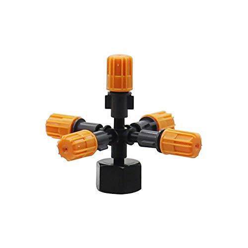 Aspersor de jardín 1 Set Multi-Boquilla Manchas de nieblas Sprinklers con 1/2'Conectores de hilo femenino Jardín Atomización de kits de boquillas (Color : 5 way)