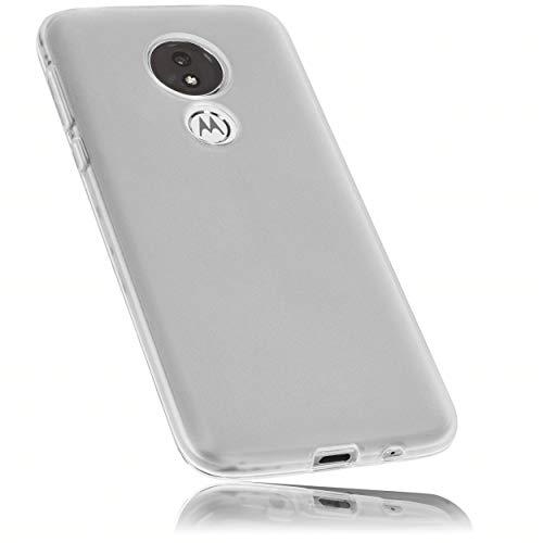 mumbi Hülle kompatibel mit Motorola Moto G7 Power Handy Hülle Handyhülle, transparent weiss