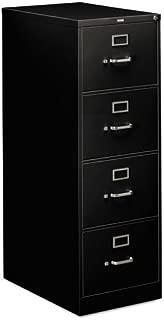 HON 314CPP 310 Series Four-Drawer, Full-Suspension File, Legal, 26-1/2d, Black