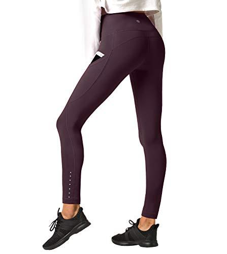 LAPASA Leggings Sportivi da Donna Vita Alta Per Allenamento Yoga Palestra L32 (Medium, Bordeaux super opaco)
