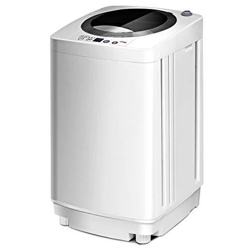 GOPLUS Lavatrice Portatile Lavasciuga Mini Lavatrice Centrifuga per Viaggio Studenti Singoli 240W di Potenza 3,5kg di Capacità Centrifuga Silenziosa