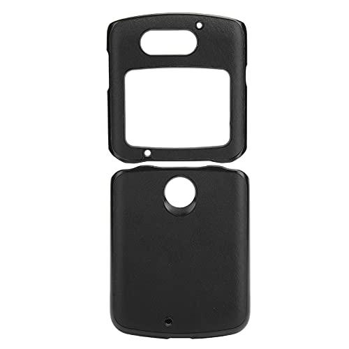 Handytasche, Handy-Schutzhülle Stoßfeste Handy-Lederhülle für Motorola Razr 5G(schwarz)