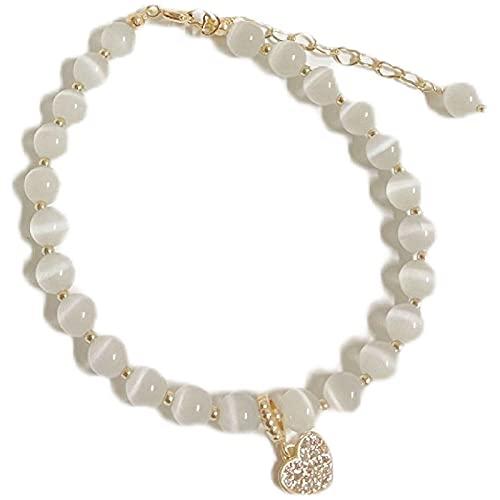Pulsera de perlas Pulsera de perlas Pulsera de piedras semipreciosas Pulsera elástica natural Pulsera Regalo del día de la madre para mujer