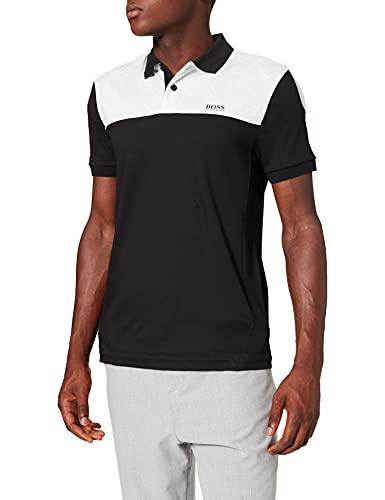 BOSS Herren Paule 1 Slim-Fit Poloshirt aus Baumwolle im Colour-Block-Design