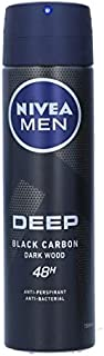 NIVEA MEN DEEP Dry and Clean Feel Antiperspirant for Men Antibacterial Spray, 150 ml