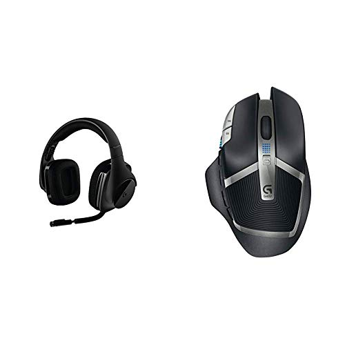 Logitech G533 Wireless Gaming Headset – DTS 7.1 Surround Sound – Pro-G Audio Drivers Bundle with Logitech G602 Lag-Free Wireless Gaming Mouse – 11 Programmable Buttons, Up to 2500 DPI