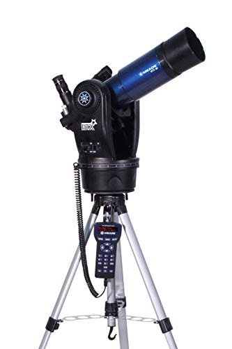Meade Instruments 205002 ETX80 Observer Achromatic Refractor Telescope with Adjustable Field Tripod, Eyepieces and Deluxe Backpack,Blue