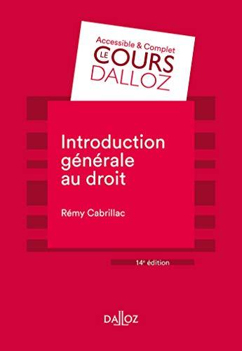 Introduction générale au droit - 14e ed.