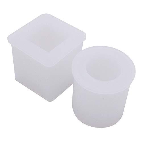 VOANZO 2PCS Stampi in Silicone Stampi in Resina di Grandi Dimensioni Set Stampi per colata in Resina Stampo in Resina epossidica Stampo Artigianale, per Vaso di Fiori Portacandele
