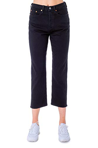 Womens Levi's Wedgie Straight Jeans in Black Heart.