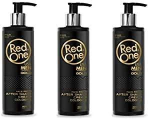 Crema para después del afeitado Red One Gold Colonia 400ml (oferta 3)