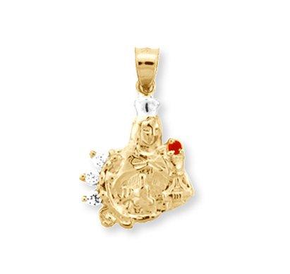 14 quilates 585/1000 Oro Amarillo religiosa Santa Bárbara Colgante collar (Libro Con Cadena 45cm)