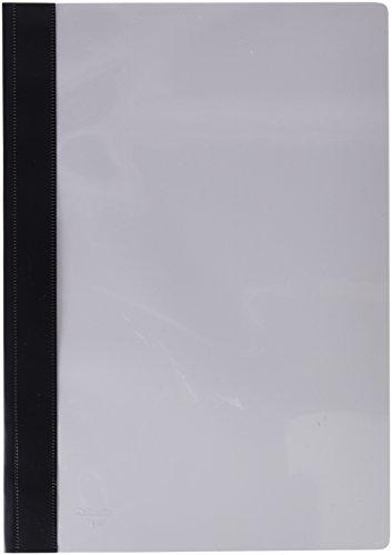 Esselte Carpeta dossier fastener, Plástico, A4, Sin tarjetero, Pack de 50, Negro, Modelo 132/1, 13209