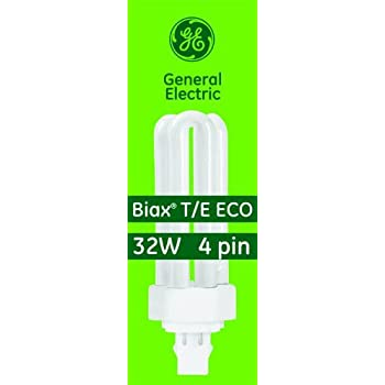 F42TBX//827//A//ECO 42-Watt Energy Smart Ecolux Triple Tube Compact Fluorescent Light Bulb T4 Shape 2700K 4-Pack 4-Pin GX24-Q4 Base 3200 Lumens GE 97633 82 CRI