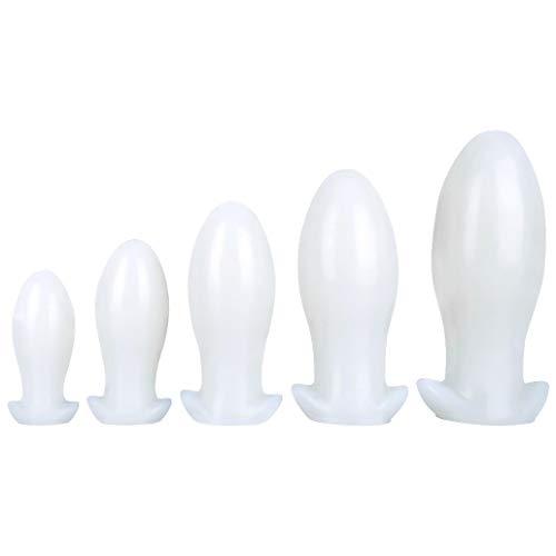 Lfcmf Women Personal Mãssãger Bǔtt Plǔgs Realistic Pénis-Ďîldɔ Soft Silicone Female Personal Adǔlt Toy with Suction Cup Ànãl-Wãnd Mãssãger Pleasure (Color : White, Size : XXL)