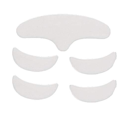 Cuscinetti antirughe in silicone per fronte e occhi, 5 pezzi Cuscinetto patch in silicone antirughe Sollevamento della pelle Riutilizzabile Lavabile Cerotto frontale per gli occhi Riutilizzabile