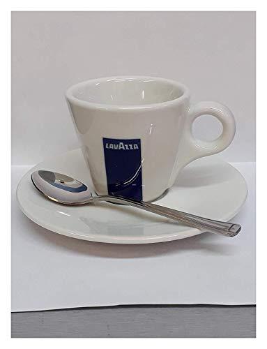 4 X Lavazza Espresso Coupes Porcelaine et soucoupes des capacités cc 75, height mm 58