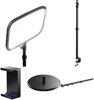 Elgato Key Light - Panel LED de Estudio Profesional con 2800 Lúmenes + Kit de Brazos articulados, Multi Mount con Soporte para Smartphone y Base lastrada