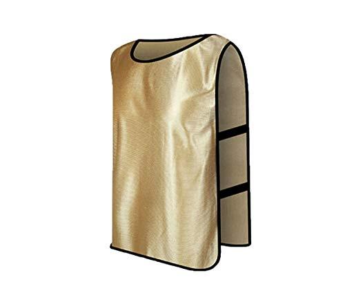 WangsCanis Fußball Trainingsleibchen Sport Leibchen für Basketball Markierungshemd Fußballtraining Scrimmage Weste Trikots in 13 Farbe 2 Größe (Gold, Kind)