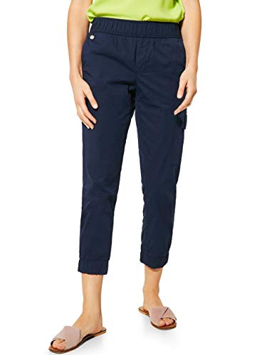 Street One Damen 373287 Bonny Loose Fit Hose, deep Blue, W42/L26