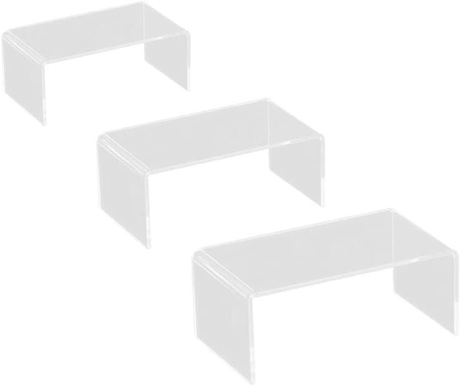 Scicalife Max 41% OFF 3pcs Clear Acrylic Rise Display Jewelry Risers Super-cheap