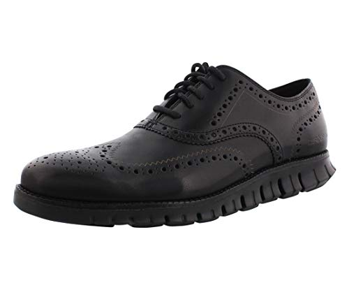 Cole Haan Men's Zerogrand Wing OX Leather Oxford, Closed Hole/Black, 7 Medium US