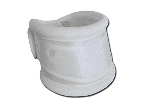 Gima - Collare Cervicale Rigido, in Polietilene, Bordi Ricoperti in Similpelle, Regolazione dell'Altezza, Circonferenza 47-52 cm