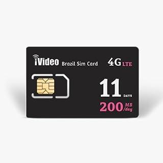 【ブラジル】プリペイドSIM、使い放題、通信無制限、4G高速で200MB/日 最大30日間使用可能 (11日間)