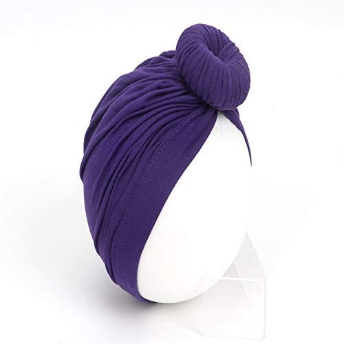 CLSMYLFB Sombrero de bebé Accesorios para bebés recién nacidos niños bebé niña niño turbante algodón gorro invierno gorro nudo sólido suave Hospital Caps