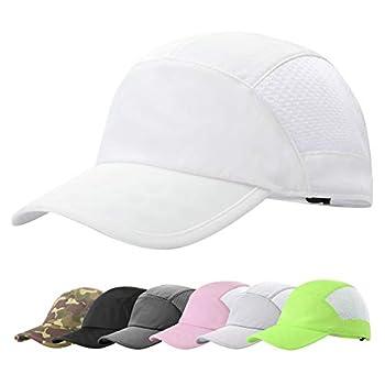 ZOWYA Breathable Sport Cap for Men & Women Summer Mesh Running Hat Adjustable Baseball Cap Cool Unisex Outdoor/Race/Tennis(White/ 1 Pack