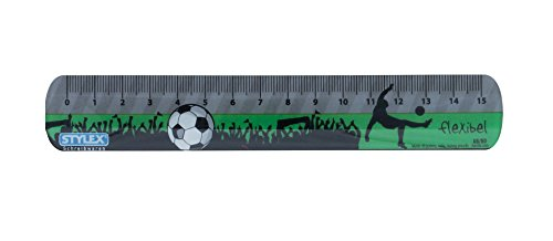 biegsames Lineal / 15cm / flexibel / mit Fußballmotiv