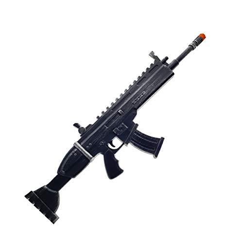 FN Toy Gun, High Density Foam Gun: Scar Rifle with Silencer Custom Props Replica Black