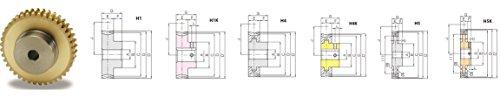 KHK AG1-60R1, 1, 60 Tooth, Single Start, Right Hand, Aluminum-Bronze Worm Wheels