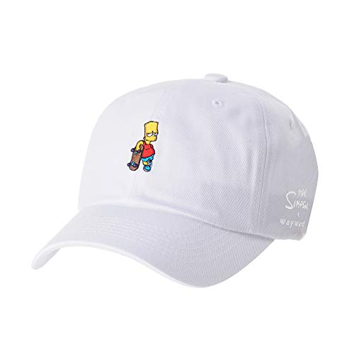 WITHMOONS Baseballmütze Mützen Caps Kappe The Simpsons Baseball Cap Bart Simpson Skateboard Hat HL1583 (White)
