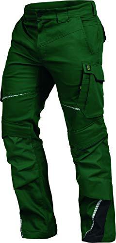Leib Wächter Flex-Line Workwear Bundhose Arbeitshose mit Spandex (grün/schwarz, 62)