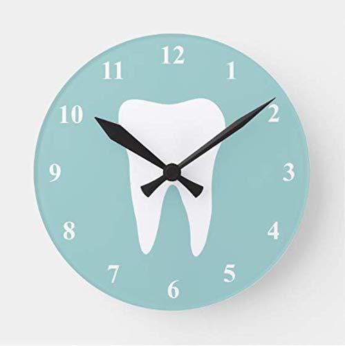 HSSS Zahnarztuhr mit Zahn-Wanduhr, Dekoration für Kinderzimmer, 30,5 cm