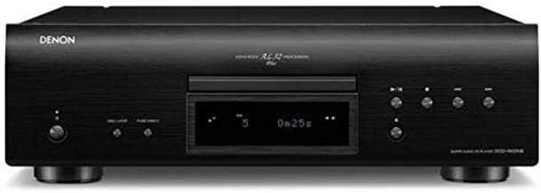 Denon DCD-1600NE Single Disc Super Audio CD Player | Exclusive Vibration-Resistant Design | Powerful Processing | Plays All Modern File Formats | Pure Direct Mode | Optical, Digital Coaxial Outputs