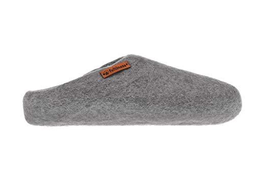Feltiness Handgefilzte Wollene Hausschuhe für Damen und Herren - Natürliche Wolle -Größe 37/38