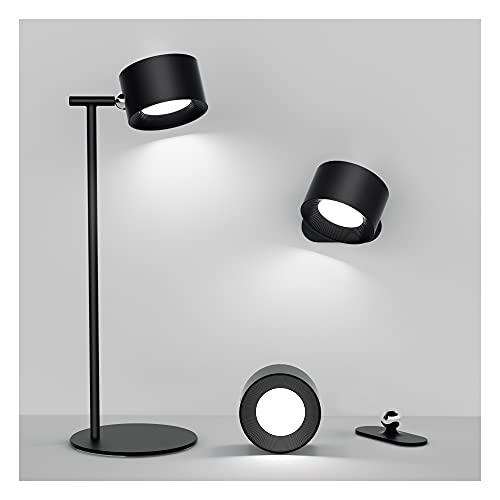 Lampada da Tavolo Lampada da Scrivania LED Senza Fili Ricaricabile Lampada da Comodino Multifunzionale 3 Livelli di Luminosità Lampada da Parete Rimovibile per Camera da Letto Studio Ufficio